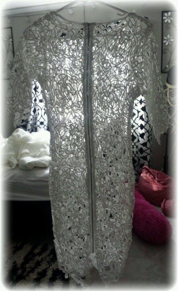 Gorgeous Lace♡Crochet♡Celebrity Style♡Bodycon♡Beach♡ Cocktail Dress ♡NEW♡XS♡