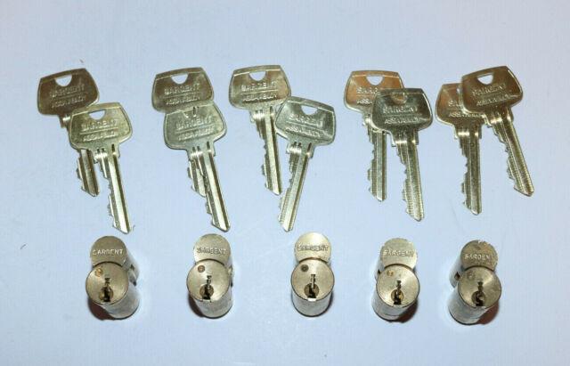 "1 1//8/""  6 pin RB Keyway 26D -W////2 KEYS Sargent Mortise Cylinder"