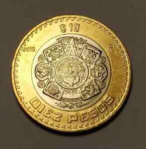 Hermosa e Historica Moneda de $10 pesos Tonatiuh Mexico 2019  Km #616