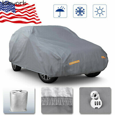 labwork Full Car Cover Waterproof All Weather Protection Outdoor Scratch Dust Resistant