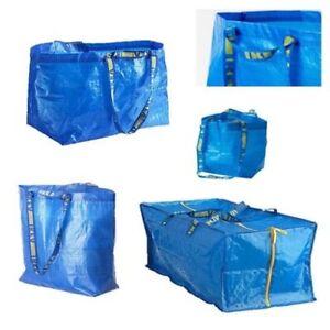 FRAKTA-Ikea-5-bis-100er-Set-13l-36l-71l-76l-Trage-Einkauf-Tasche-Tuete-blau-Umzug