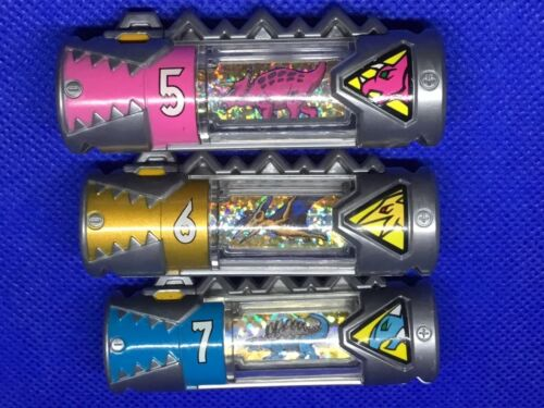 3 Power Rangers Japanese Dino Chargers #5,6,/& 7 ***USA Seller***