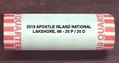 **READY TO SHIP* WI 2018 P  Apostle Islands National Lakeshore Quarter
