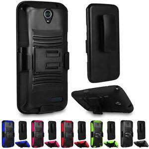 For ZTE ZMax Champ / ZMax Grand / Avid 916 / ZMAX 3 Armor Hard Case Cover + Clip