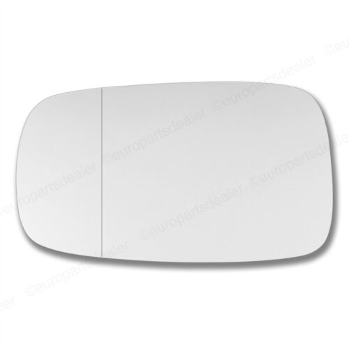Left side Wing door mirror glass for Renault Clio 2005-2009 stick on Wide Angle