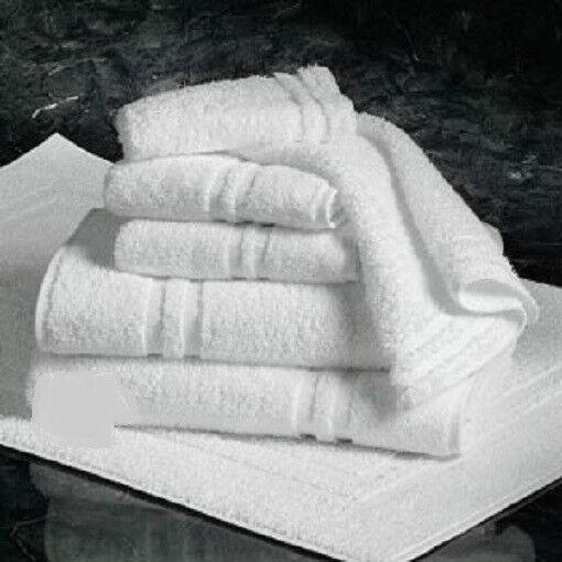 24 NEW WHITE 22X44 COTTON BATH TOWELS QUALITY CONSTRUCTION HOTEL TOWELS