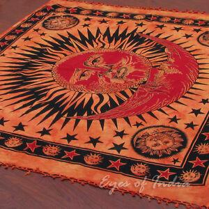 Orange Sonne Indische Decke Bett Tuch Decke Berwurf Wand