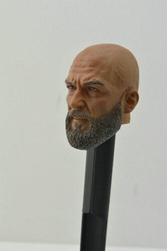 1//6 Custom Iron Man Jeff Bridges Iron Monger Obadiah Stane Head Sculpt For HT