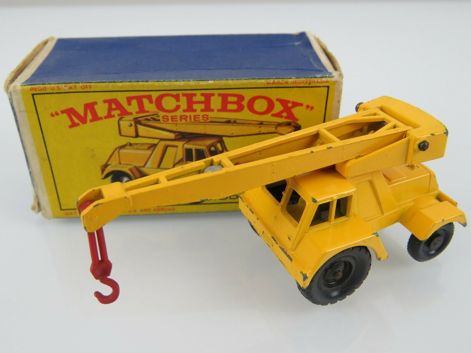 Lesney Matchbox Vintage 1965 Taylor Jumbo Crane Regular wheels w Orig Box