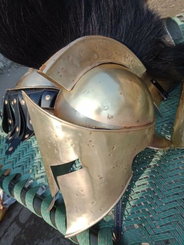 Chaqueta de armadura muscular griego con casco espartano disfraz conjunto de protección Brazo Pierna