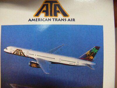1/500 Herpa American Trans Air Boeing 757-200 503709 E-mostra Il Titolo Originale