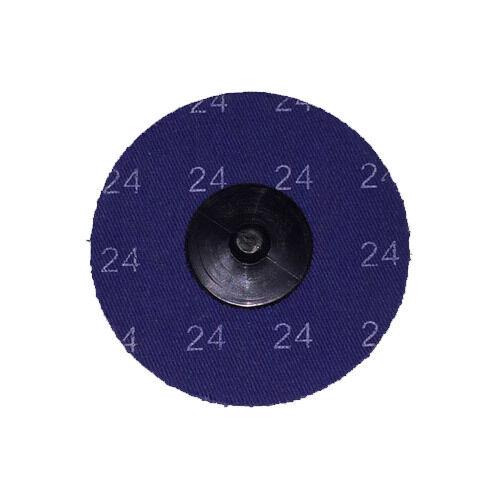 "25-3/"" Roloc A//O Quick Change Sanding Disc 24 Grit"