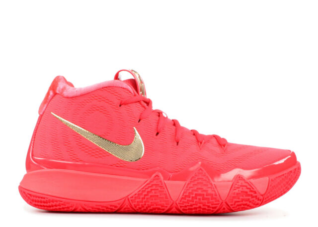 reputable site adaaa 128ff Nike Mens Kyrie 4 Size 11 Red Carpet Red Orbit Metallic Gold 943806 602