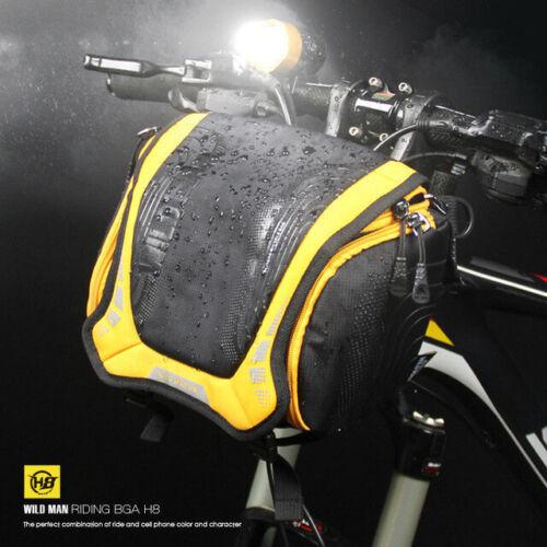 New WILDMAN Bicycle Waterproof Handlebar Bag MTB Road Bike Bag Front Cycling Bag