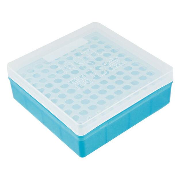 Plastikquadrat Transparent Blau 100 Loecher 1,5 ml Zentrifugenroehrchen Cas E7Y8