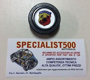 Fiat-500-F-L-R-126-Bouton-Klaxon-Volant-Voiture-Sportif-Logo-Abarth