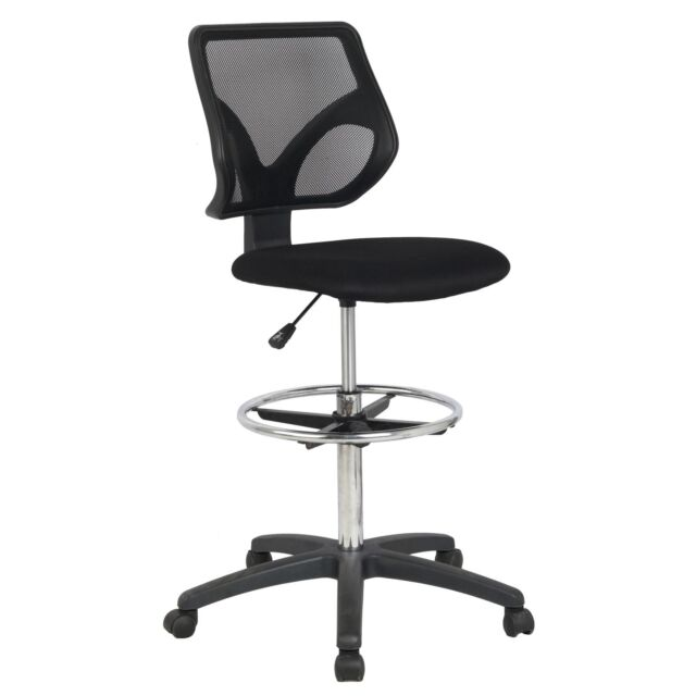 Cool Living Mesh Back Adjustable Height Draft Stool Drafting Desk Office  Chair
