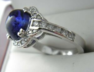 14k-White-Gold-4-86ct-Natural-Sapphire-Statement-Diamond-Ring