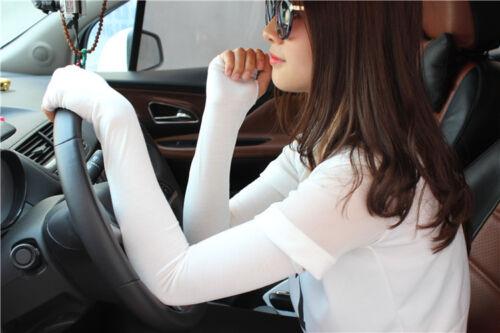 20 Colors Sunscreen Women Girl Arm Warmer Cotton Long Fingerless Gloves