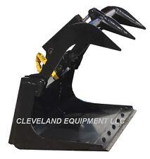 New 48 Mini Grapple Bucket Attachment Bobcat Mt52 Mt55 Mt85 Skid Steer Loader