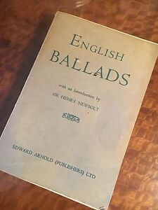Details about Vintage Antique Book English Ballads & Short Poems Sir Henry  Newbolt Love