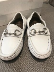 cb0cd5035f08 Image is loading Gucci-Toddler-Boys-Loafers-Sz-25-White