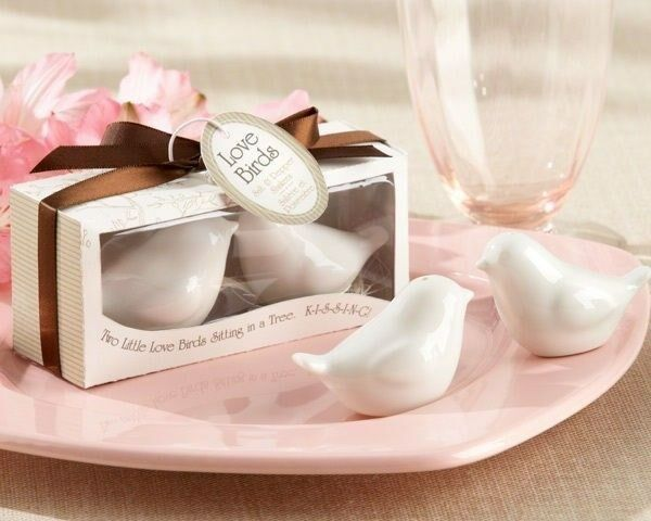 75 Ceramic Love Bird Salt & Pepper Shakers Wedding Bridal Shower Gift Favors