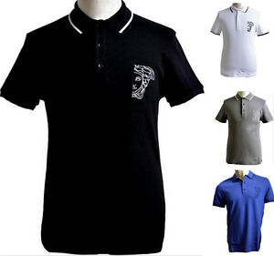 9d2bcd332 Image is loading T-shirt-Short-Sleeve-Polo-Men-Versace-Collection-