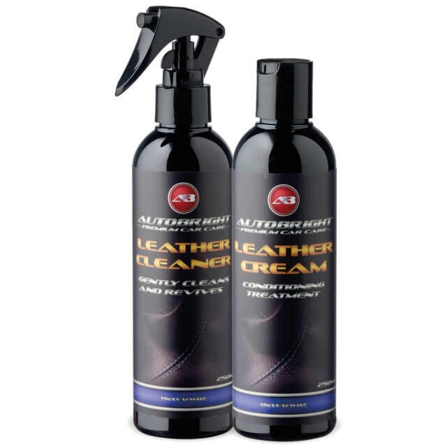 Autobright Leather Cleaner Leather Cream Conditioner Leather Aroma Kit 250ml