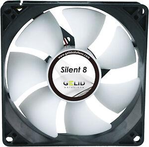2-x-Pack-of-Gelid-Solutions-Silent-8-Quiet-Case-Fan-8cm-80mm-1600rpm