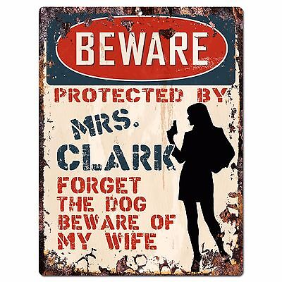 CLARKE Plate Chic Sign Home Store Wall Decor Funny Gift PP3128 Beware of MR