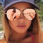 Discount Ray-Ban - Women's Aviator Havana Sunglasses Flat Lens Reflective Mirror
