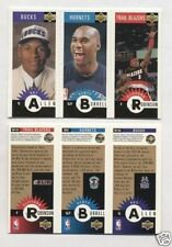 Gold Triple Mini Upper Deck Collectors Choice 1996-97 Allen RC Burrell Robinson