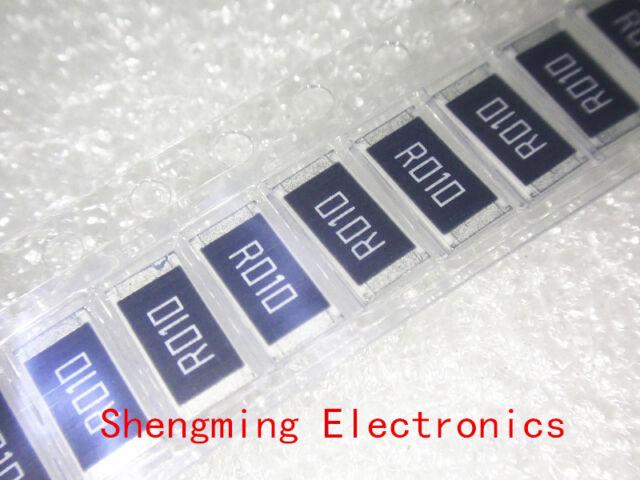 100PCS 2512 (6432) 1W 0.01R 0.01RF 10mR R010 1% SMD resistors