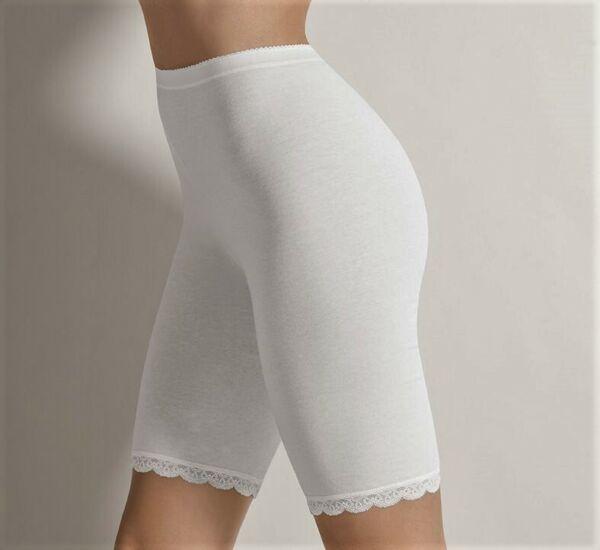 2 er Pack Damen Slip mit Bein  LANGBEIN Schlüpfer hoher Leib Marke Cotonella