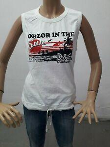 Maglia-DOLCE-amp-GABBANA-Donna-T-shirt-Woman-Polo-Femme-Taglia-size-S-Cotone-8573