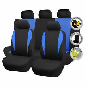 Universal-Black-amp-Blue-Car-Seat-Covers-Cushions-Seat-Protector-Full-Set