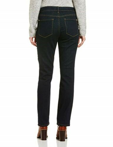NYDJ Women Marilyn Straight Jeans Blue Dark Wash UK 8 10 18 NEW