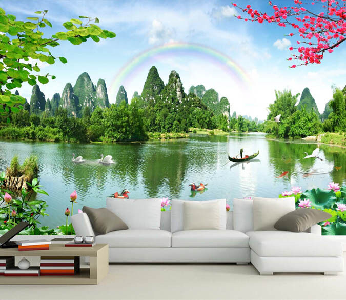 3D Graceful Lake 618 Wall Paper Murals Wall Print Decal Wall Deco AJ WALLPAPER