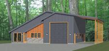 46x48 House - 1 Bedroom 1.5 Bath 1 RV - 1,157 sqft - PDF Floor Plan - Model 3B
