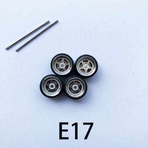 Pro V2.0】 1//64 Scale Alloy Wheels with Brake Caliper 【E rubber tires ,stickers