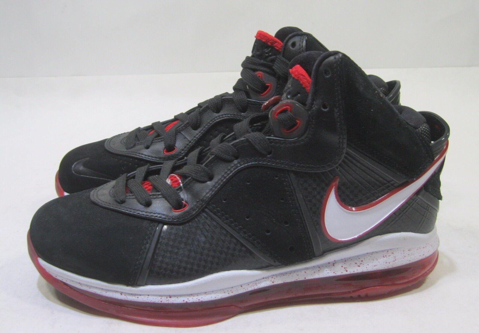 Nike Lebron 8 White-Sport 417098 002 2010 Black, White-Sport 8 Red-Metallic Gold Size 7.5 b7b637