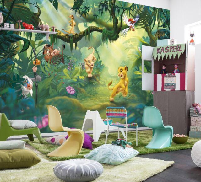 Charmant GIANT Photo Wallpaper Mural Poster LION KING JUNGLE Girls Boys Bedroom  368x254cm