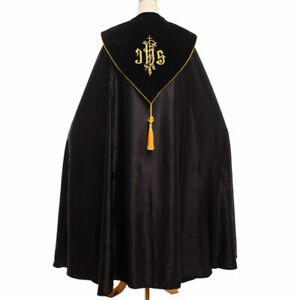 Catholic-Church-Cape-Vestment-Cope-Priest-Liturgical-IHS-Embroidery-Vestment