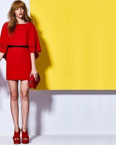 Nwt Alice + Olivia Cairo 3 4-Sleeve Umhang Popover Kleid 100% Original