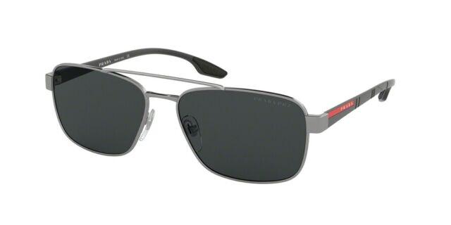 ff5aad8b7ffd PRADA Linea ROSSA 51us Lifestyle Sunglasses 5av5z1 Gunmetal 100 Authentic