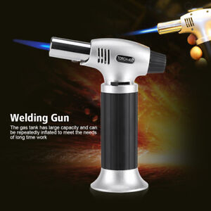 Hot-Outdoor-Flame-Gun-Gas-Butane-Blow-Torch-Burner-Welding-Soldering-Lighter-SR