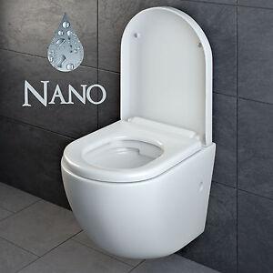 design wand h nge wc ohne sp lrand sp lrandlos toilette sitz softclose h ngend 4 ebay. Black Bedroom Furniture Sets. Home Design Ideas