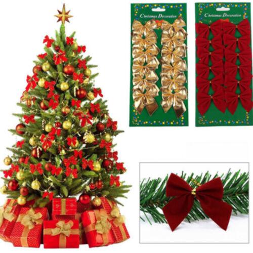 120Stk Weihnachtsbaum Schleife Bowknot Dekoration Hochzeit Dekoration