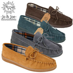 Mens-100-Leather-Suede-Slip-On-Driving-Moccasin-Loafer-Casual-Loafers-Shoes-UK